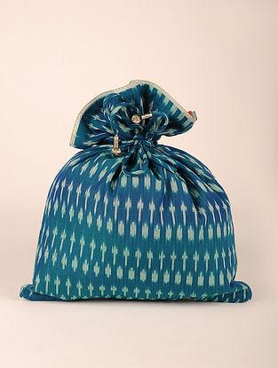Teal Handcrafted Cottan Ikat Potli