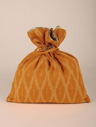 Mustard Handcrafted Cottan Ikat Potli