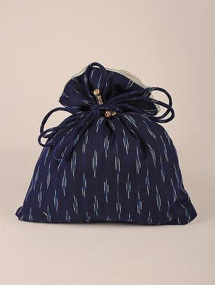 Blue Handcrafted Cottan Ikat Potli