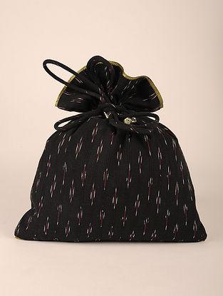 Black Handcrafted Cottan Ikat Potli