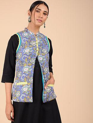 Blue Printed Cotton Jacket