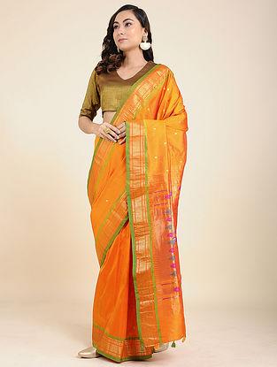 Mustard Paithani Silk Saree