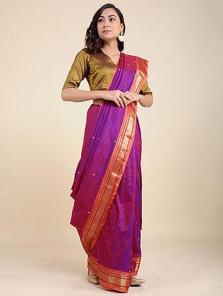 Purple-Brown Silk Saree