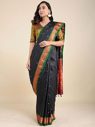 Black--Green Silk Saree