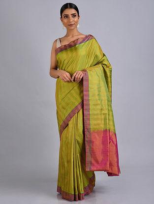 Green-Pink Silk Saree