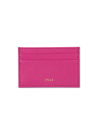 Hot Pink Handcrafted Leather Card Case