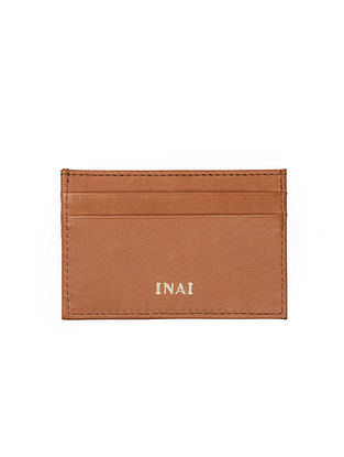 Tan Handcrafted Leather Card Case