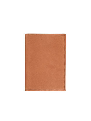 Tan Handcrafted Leather Passport Case