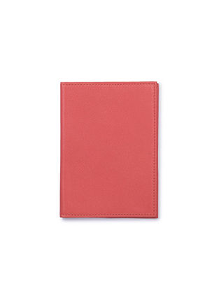 Coral Handcrafted Leather Passport Case
