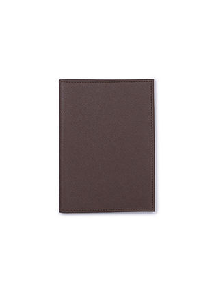Dark Brown Handcrafted Leather Passport Case