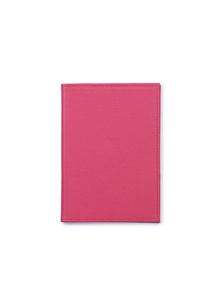 Pink Handcrafted Leather Passport Case