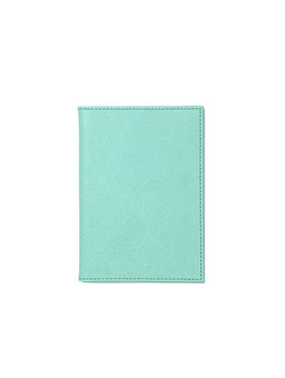 Ocean Green Handcrafted Leather Passport Case