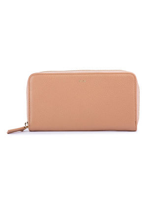 Beige Handcrafted Leather Wallet