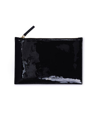 Black Handcrafted Leather Pouch