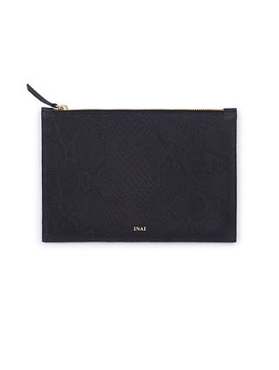 Dark Blue Handcrafted Leather Pouch