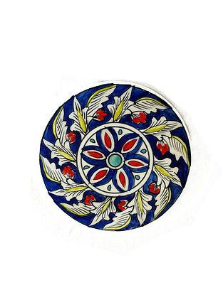 Midnight Multicolored Handcrafted Ceramic Trivet - Dia:6in