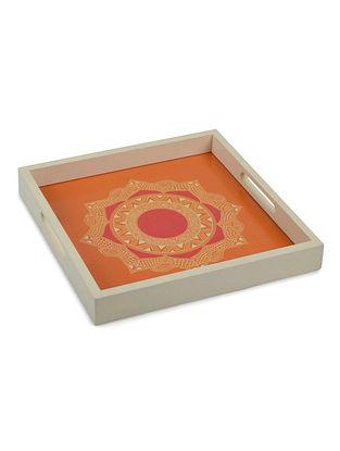 Chakra Madhubani Art Tray-Square