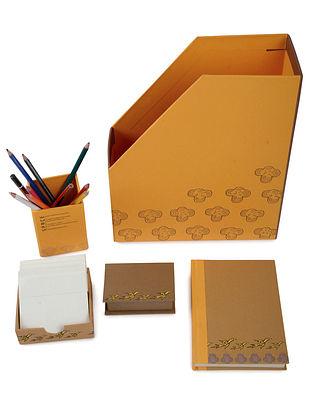 5 Elements Madhubani Office Stationery-Set of 5