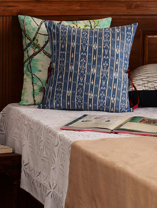 Blue Ikat Cushion Cover 16in X 16in