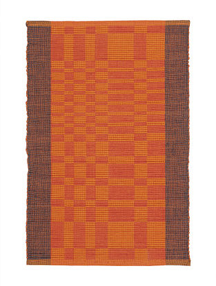 Orange Handwoven Reversible Cotton Placemats (Set of 6)