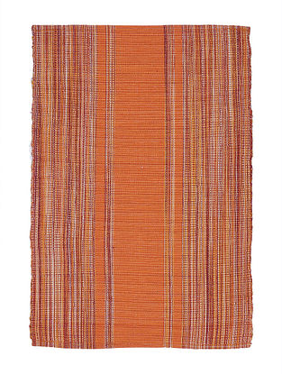 Orange Handwoven Cotton Placemats (Set of 6)