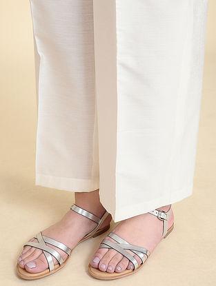 Ivory Cotton Silk Palazzos