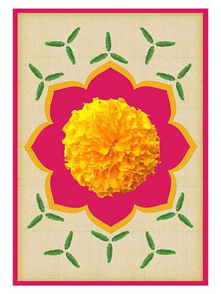 Pichwai Flower Art Print on Paper