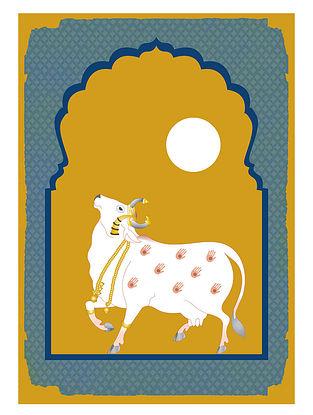 Pichwai Cow Art Print on Paper