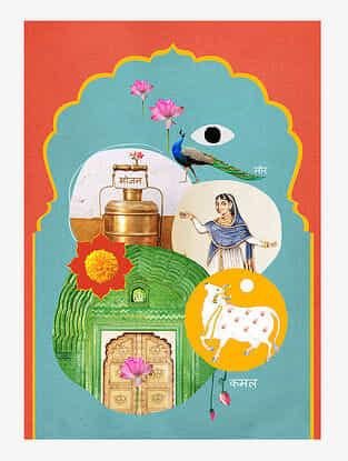 Fragrance of India Digital Mix Media Art on Paper