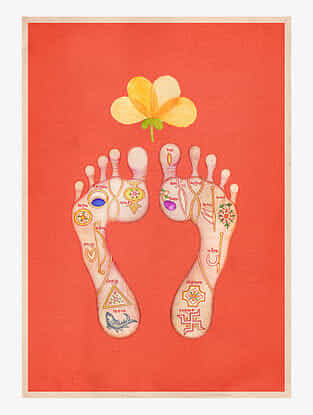 Sacred Feet Art Print On Paper