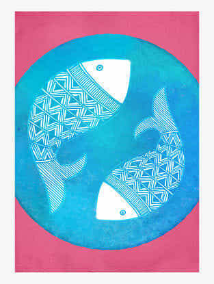 Matsya Art Print On Paper