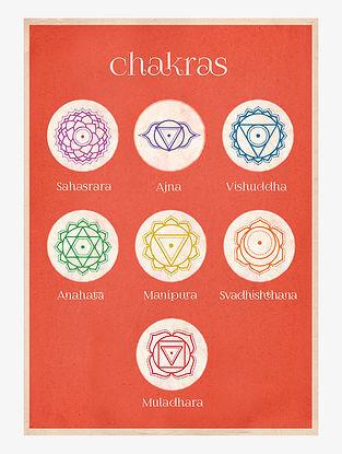 Yoga Chakras Art Print On Paper