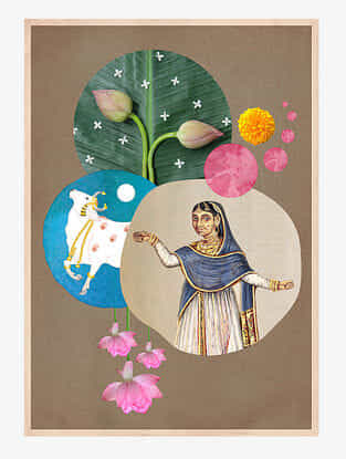 Indian Culture Art Print On Paper