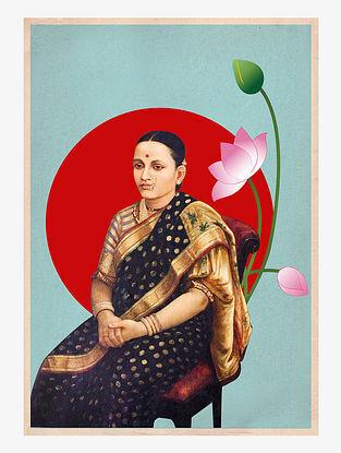 Raja Ravi Varma Collage Art Print On Paper