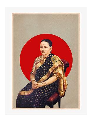 Ravi Varma Love Digital Mix Media Art on Paper