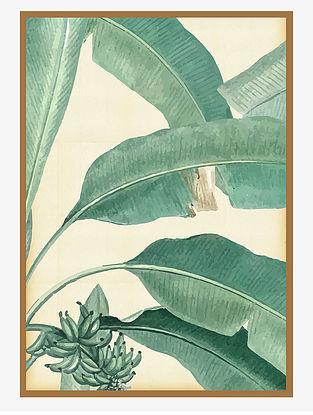 Botanical Plant Digital Mix Media Art on Paper