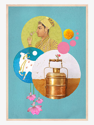 Mughal Love Digital Mix Media Art on Paper