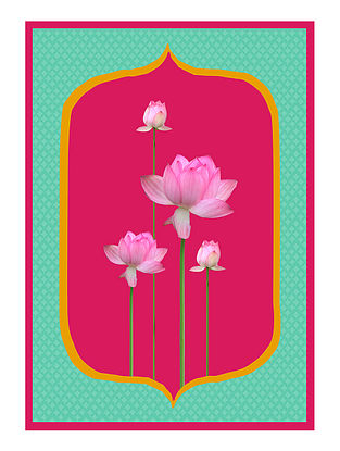 Mughal Lotus Art Print on Paper