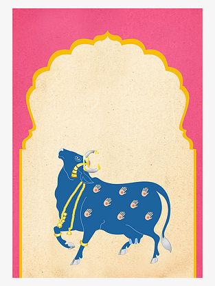 Cow Pichwai Art Print On Paper