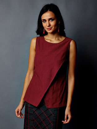 Maroon Striped South Cotton Top