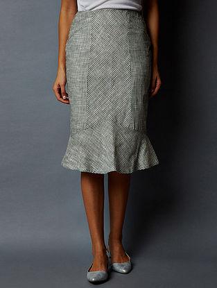 Grey-White Striped South Cotton Skirt