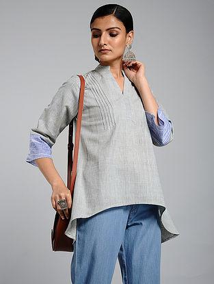 Grey Handwoven Khadi Top