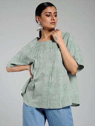 Green Handwoven Khadi Top
