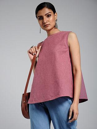 Pink Handwoven Khadi Top