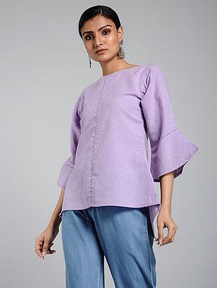 Lavender Handwoven Khadi Top