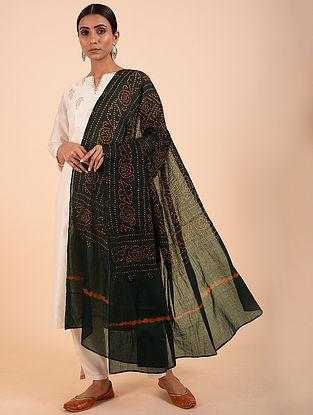Black Bandhej Cotton Dupatta