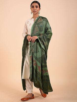 Green-Red Bandhej Gajji Silk Dupatta