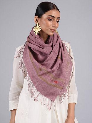 Purple Handwoven Silk Stole