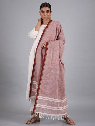 Red-White Handwoven Malkha Dupatta