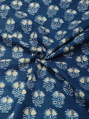 Blue Ajrakh Printed Cotton Fabric